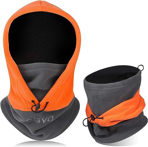 TAGVO Cagoule Coupe-Vent Masque De Ski Cagoule Polaire Thermique Hiver Utilisation Polyvalente Masque Unisexe Chaud &...