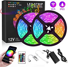 Harmonic LED Strip Lights, 32.8ft RGB Light Strip with Remote and 12V Power Supply Sync to Music Waterproof Rope Lights Color Changing Tape Lights for Bedroom Kitchen Party Christmas Decoration