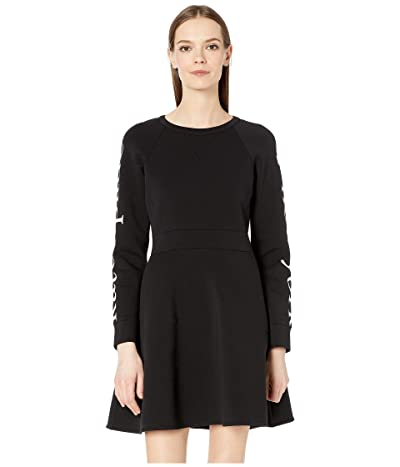 Kate Spade New York Athleisure Logo Knit Dress (Black) Women