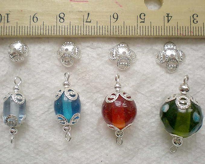 Leaves bead caps Silver bead caps Flower bead caps Bronze bead caps Leaf bead caps Flexible leaf bead caps
