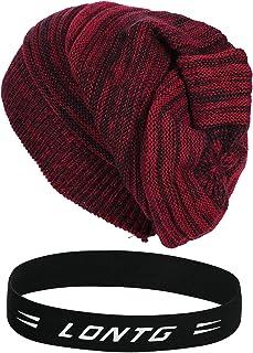 Women Men Winter Beanie Hat Double Layer Snow Knit Skull Ski Cap Warm Hat