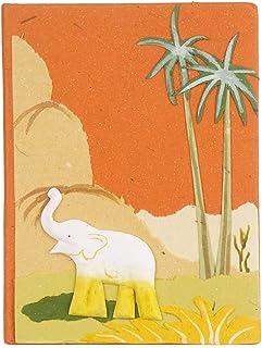 105/x 135/mm carta a base di sterco di elefante Eco Maximus quaderno per gli appunti colore/arancione misura media