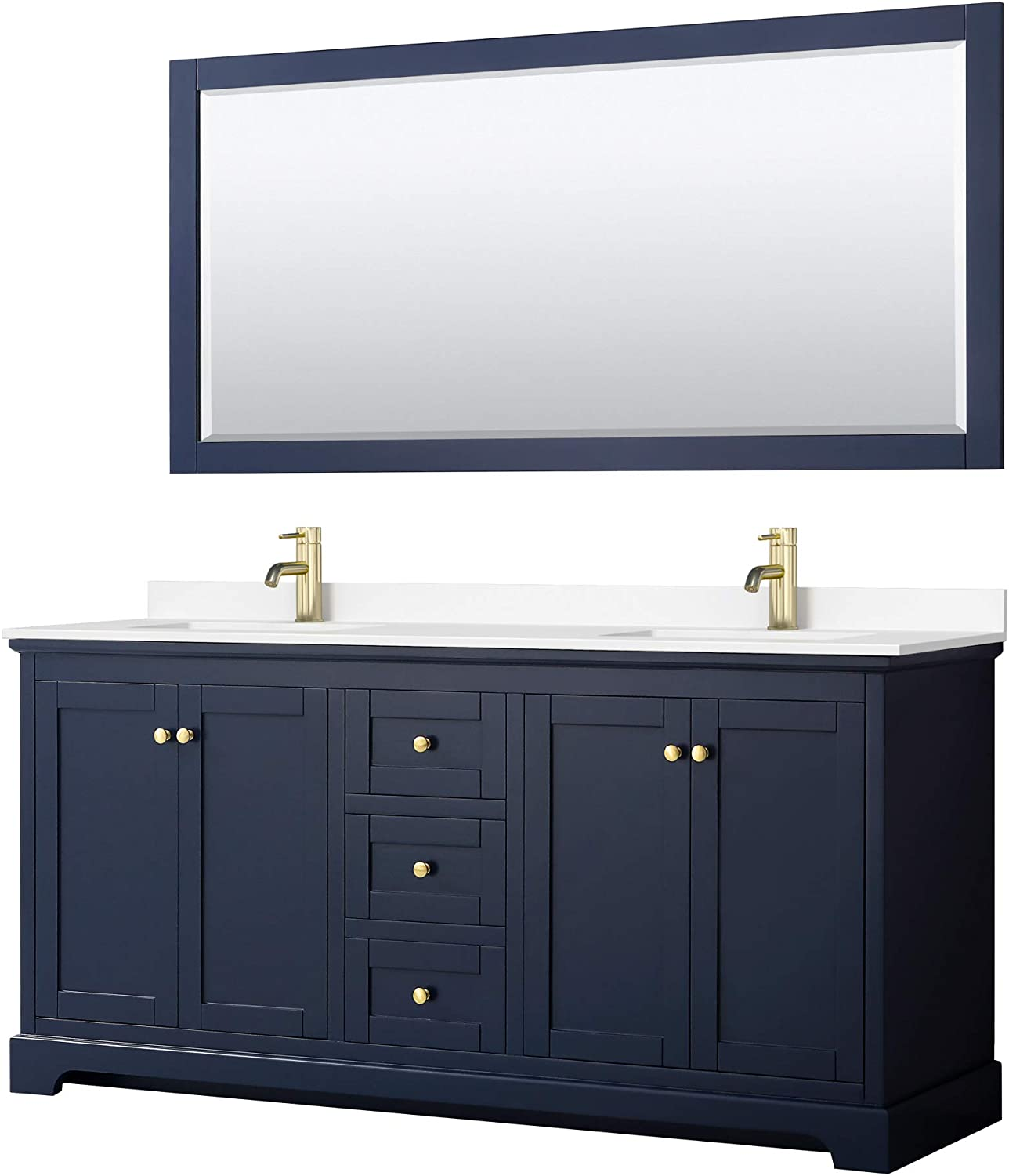 Avery 20 Inch Double Bathroom Vanity White in Fixed price for sale ...