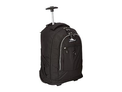 High Sierra Chaser Wheeled Backpack (Black) Backpack Bags