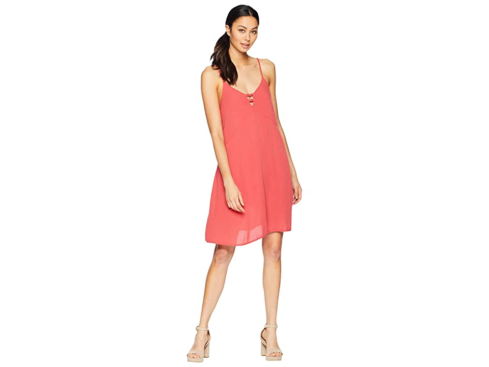 Roxy Full Bloom Woven Tank Dress (Cardinal) Women