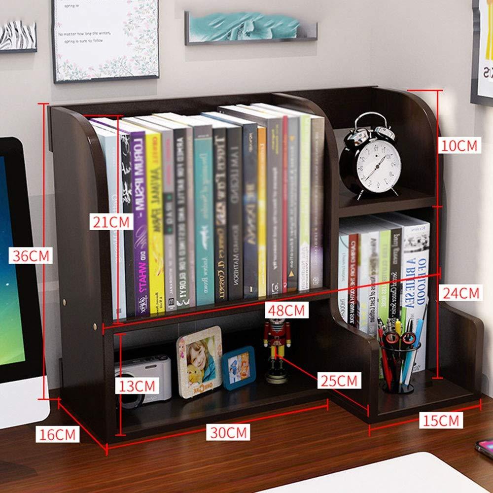 Librería de escritorio de madera pequeña Mesa de niño pequeño estante Oficina de almacenamiento compartida Biblioteca Multi-color simple opcional libro de escritorio estantería Estudiante Decoraciones: Amazon.es: Hogar