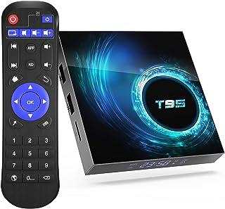 T95 Android 10.0 TV Box 4GB RAM 64GB ROM Allwinner H616 Quad core 64-bit, Support 6K HD/ 3D/ H.265 Ethernet 2.4/5.0GHz Dua...