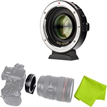 Viltrox EF-M2 Auto Focus Lens Mount Adapter 0.71X for Canon EOS EF Lens to Micro Four Thirds (MTF, M4/3) Camera,with USB update port