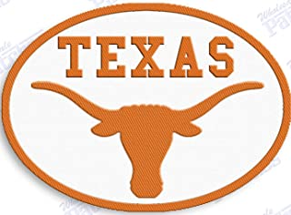 TEXAS LONGHORNS IRON ON EMBROIDERED EMBROIDERY PATCH PATCHES SCHOOL OF UNIVERSITY STATE COLLEGE NCAA FOOTBALL SPORTS