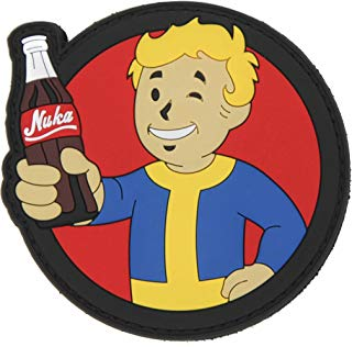 Fallout Vault Boy Pip Boy Nuka Cola PVC Rubber Morale Patch by NEO Tactical Gear Morale Patch - Hook Backed