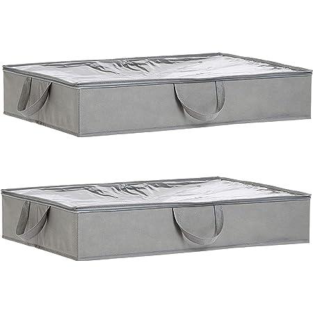 Amazon Basics Housse de rangement pour dessous de lit en tissu - Lot de 2