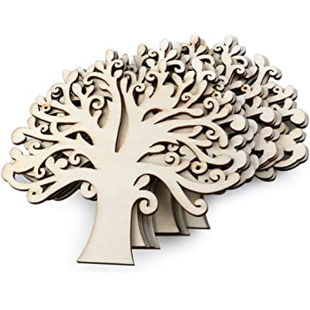 Wooden MDF Mini Family Tree Craft Blank Pack Laser Cut 15 Trees