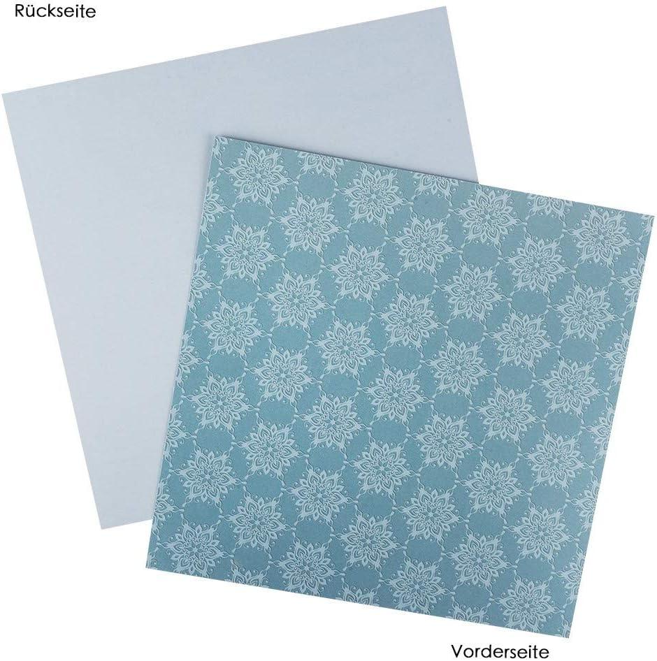 Ideen mit Herz Duo-Design-Papiere Basteln ideal f/ür Scrapbooking 25 x 25 cm Motivpapier Hintergr/ünde 01 Designpapier 250g//m/² Block mit 20 Blatt Bastelpapier beidseitig Bedruckt