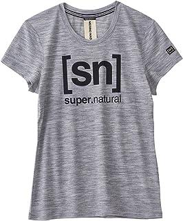 [エスエヌ スーパーナチュラル] ヨガ メリノウール Tシャツ レディース SNW004783