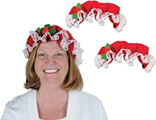 Beistle 20812 3Piece Mrs. Claus Hats, , Red/White/Green