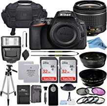 Nikon D5600 DSLR Camera with 18-55mm VR Lens, 32GB Card, Tripod, Flash, and More (22pc A-Cell Bundle) (18-55MM + 32GB)
