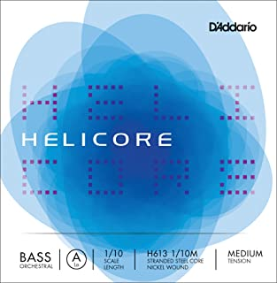 D'Addario Helicore Orchestral Bass Single A String Medium Tension 1/10 Scale