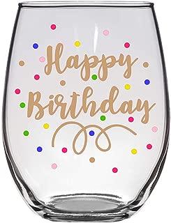 Happy Birthday 21 Oz Wine Glass, Birthday Girl, Birthday Wine Glass