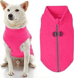 Gooby Zip Up Fleece Dog Sweater