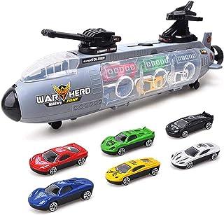 Mumoo Bear Submarine Car Toy Set 7 Pcs Portable Storage Box Mini Sports Car Alloy Car Model Perfect Gift for Kids