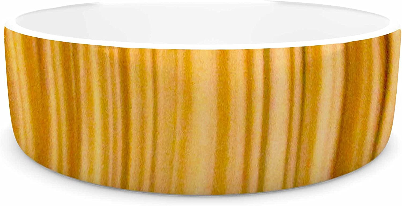 KESS InHouse Philip Brown golden Curtains  orange Abstract Pet Bowl, 7