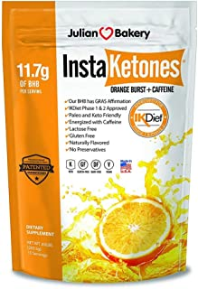 InstaKetones® 11.7g GoBHB® per Scoop +Organic Caffeine (Orange Burst) (1 Pack) (+Caffeine) (15 Servings) Exogenous Ketones