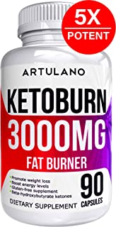 Best Keto Pills - 5X Potent (3000mg | 90 Capsules) - Weight Loss Keto Burn Diet Pills - Boost Energy and Metabolism - Exogenous Keto BHB Supplement for Women and Men - 90 Capsules