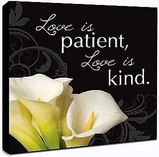 """LACOFFIO Love is Patient Love is Kind Wall Art Décor Plaque 6"""" x 6"""