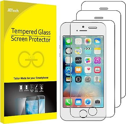 JETech Schutzfolie für iPhone SE, iPhone 5s, iPhone 5 und iPhone 5c, Gehärtetem Glas Displayschutzfolie, 3 Stück