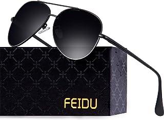 Polarized Aviator Sunglasses for Men women -FEIDU Metal...
