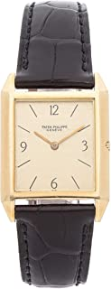 Patek Philippe Gondolo Mechanical (Hand-Winding) Gold Dial Womens Watch 3491J (Certified Pre-Owned)