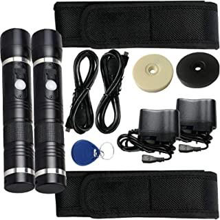 2 Sets New Generation RFID Security Guard Patrol Tour Full System Kits with Built-in LED Flash Light (for SOS) 20 pcs Chec...