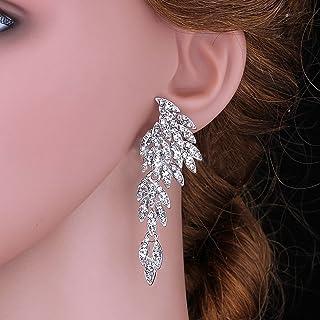 92a734dfd805 Amazon.es: pendientes largos plata - Cristal: Joyería