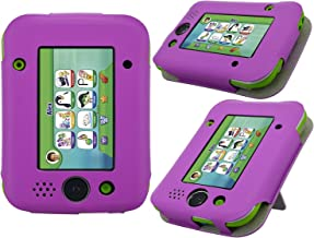 LeapPad Jr. Case - HOTCOOL New PU Leather with Kickstand Cover Case for Leapfrog LeapPad Jr. Kids Tablet, Purple
