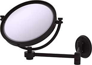 Allied Brass WM-6/4X 8 Inch Wall Mounted Extending 4X Magnification Make-Up Mirror, Oil Rubbed Bronze