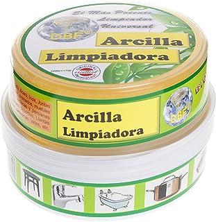 ARCILLA LIMPIADORA PIEDRA BLANCA (4 BOTES + 4 ESPONJAS)