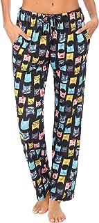 Ekouaer Women's Lounge Pants Comfy Pajama Bottom with Pockets Stretch Plaid Sleepwear Drawstring Pj Sleep Bottoms Pants
