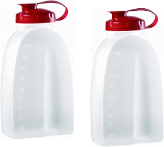 Rubbermaid COMINHKPR21642 725410731145 Servin Saver White Bottle 2 Qt. (Pack of 2), 2 pack, Clear