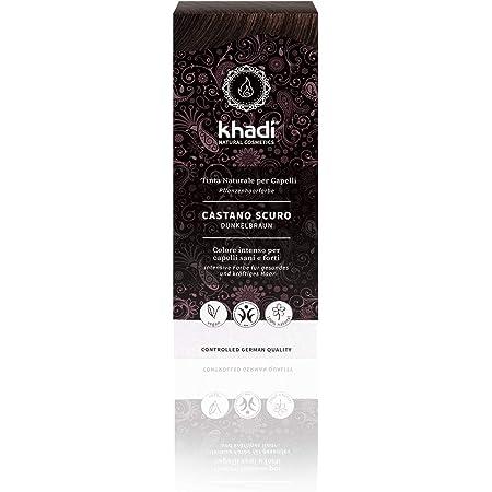 Khadi - Tinte natural vegetal castaño oscuro, 100 g