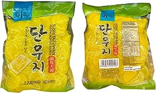 Korean Sushi Takuwan Yellow Pickled Radish 단우지 调味大根 2.2lb - Total of 2 units