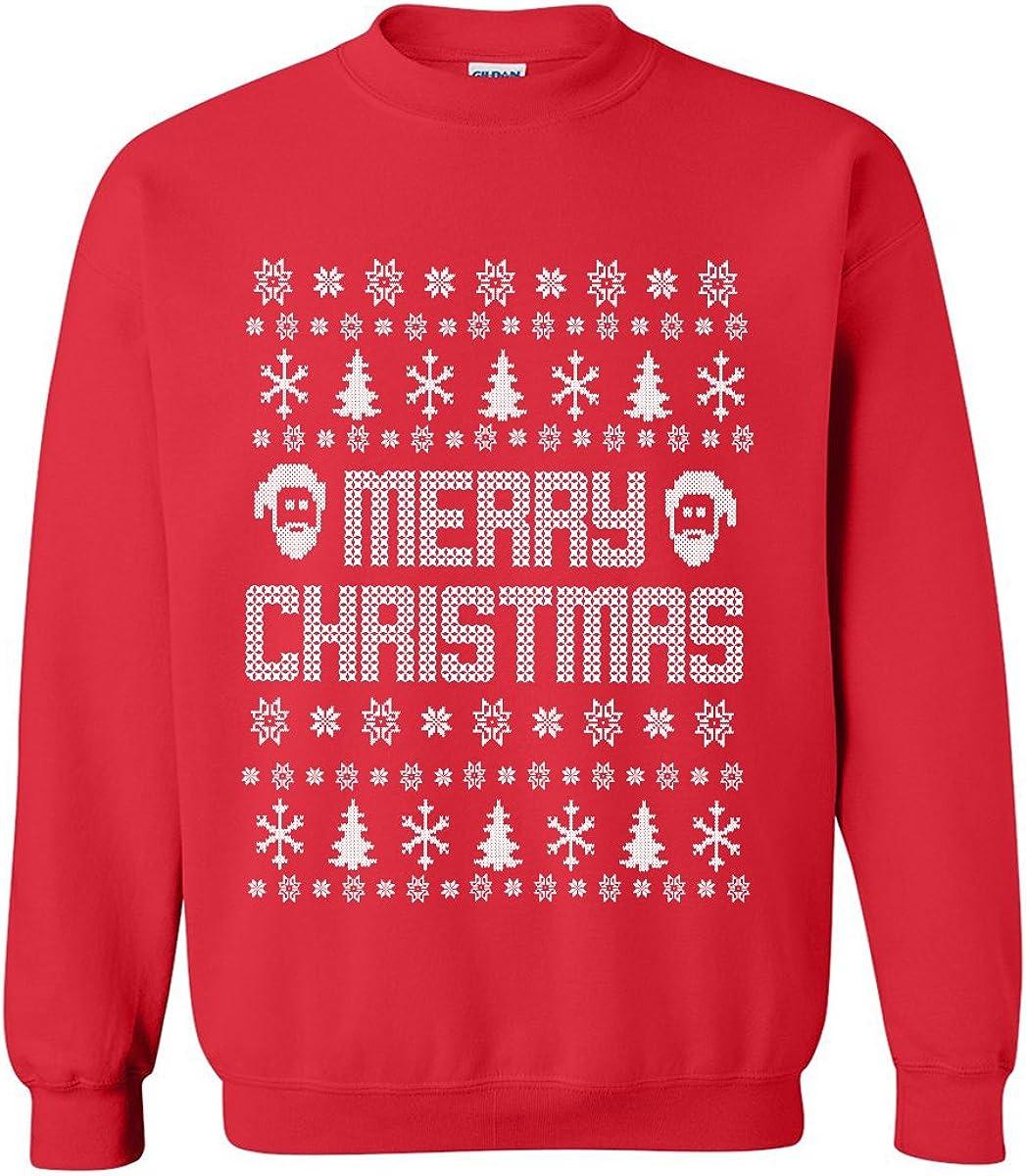 zerogravitee Merry Christmas Ugly Holiday Sweatshirt Crewneck Sweatshirt