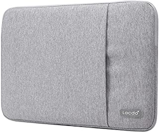 """Lacdo 13 Inch Waterproof Fabric Laptop Sleeve Case Compatible Old MacBook Air 13"""" / MacBook Pro 13.3-Inch Retina 2012-2015/12.9 ipad Pro, HP Asus Acer Chromebook Ultrabook Notebook Bag, Gray"""