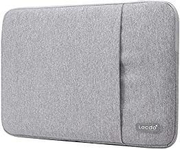Lacdo 12.9 inch Laptop Sleeve Case Compatible 13 Inch New MacBook Pro Touch Bar A1989 A1706 A1708 | 2018 MacBook Air Retina Display A1932 | XPS 13 | Water Repellent USB-C Notebook Bag, Gray