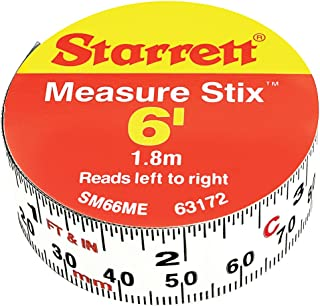 Starrett SM66ME Adhesive Tape Measure, 3/4