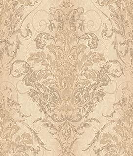 Décor Direct YWAR7752 Pattern Wallpaper Gold, Grey, Pale Yellow, tan