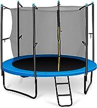 Klarfit Rocketboy 250 tuintrampoline kindertrampoline met net (doorsnee 2,5 m, inclusief ladder en veiligheidsnet, gevoerd...