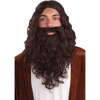 Biblical Jesus Wig and Beard Adult Set Brown