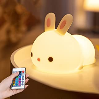 Night Light for Kids Indoor, Cute Bunny Night Lamp for Baby Children Girls Toddler, Led Nursery Night Light with Color Cha...