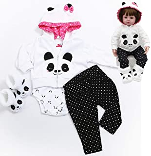 HUADOLL Reborn Baby Girl Dolls Clothes 18 inch Panda Outfits Accesories for 17-19 inch Reborns...