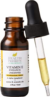 Health Priority Natural Products Natural & Organic Vitamin E Oil For Your Face & Skin Iu Reduces Wrinkles & Fade Dark Spot...